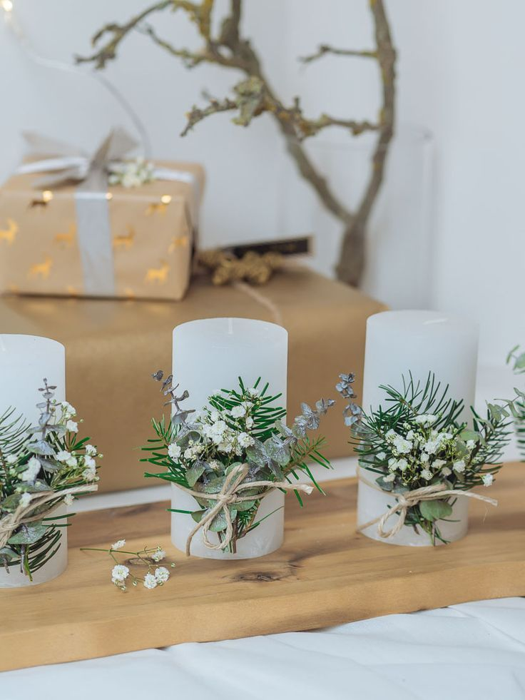 Last Minute DIY Adventskranz im skandinavischen Stil