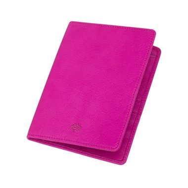 Mulberry - Passport Cover Wallet in Mulberry Pink Glossy Goat