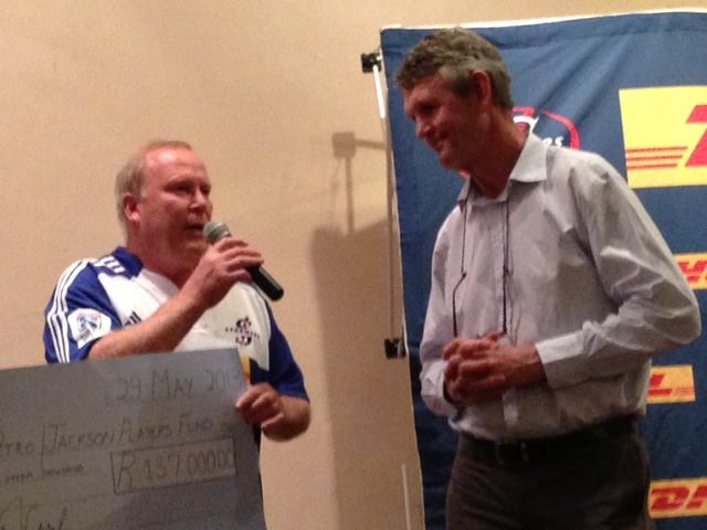 Annual KGC/DHL Stormers Fundraising Dinner   The Kelvin Grove Club, Newlands 29 May 2013 - R 137 000.00 Raised for the Petro Jackson Chris Burger Players' Fund  https://www.facebook.com/photo.php?fbid=472271356180735=a.165985976809276.41085.162731130468094=1_count=1