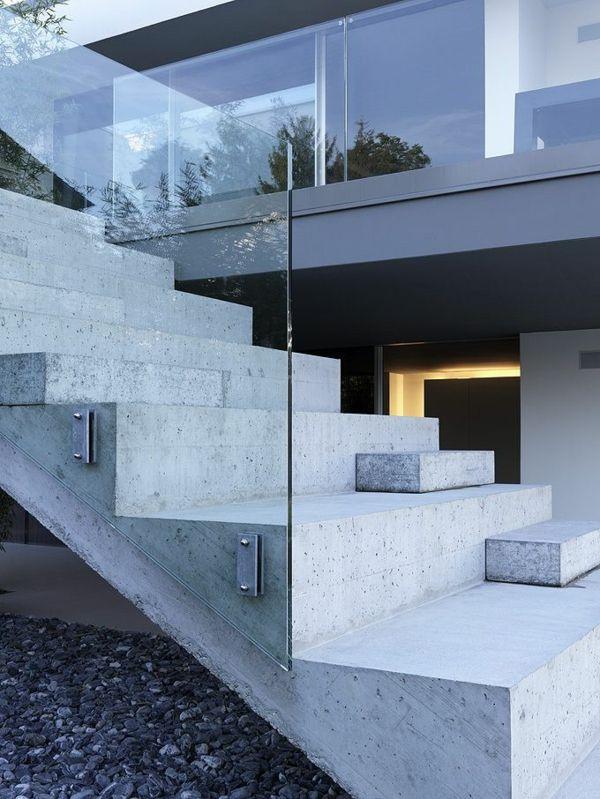 Top Les 25 meilleures idées de la catégorie Escalier beton sur  XV42