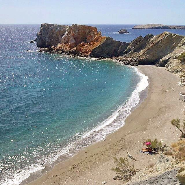 Wonderful Vardia beach , at Folegandros island (Φολέγανδος). Very impressive island with a lot of beautiful beaches and villages to explore !