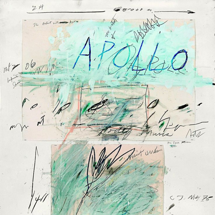 Cy Twombly – Apollo and the Artist (1975)