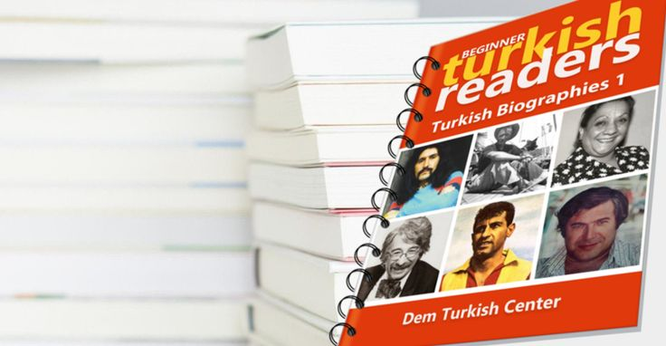 #LearnTurkish with #TurkishLanguage #learning books for self-study. #Turkish Biographies 1 for beginners
