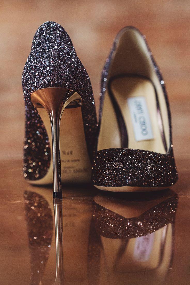 glam glitter wedding shoes
