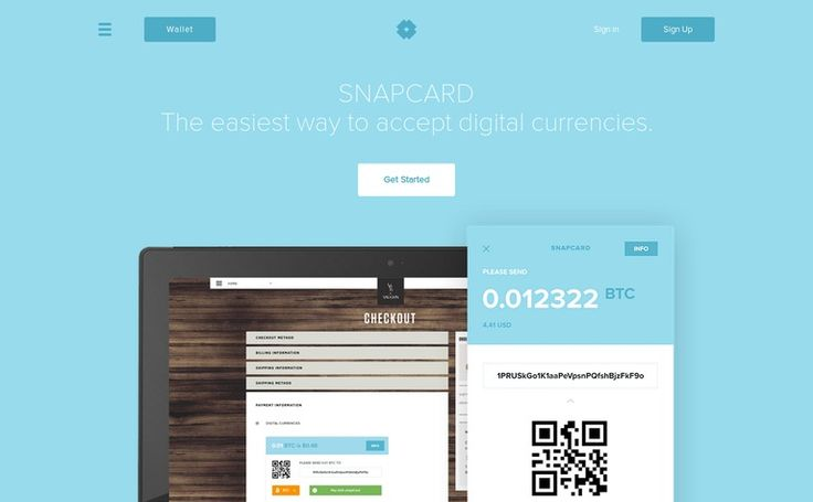 Snapcard / Accepting digital currencies