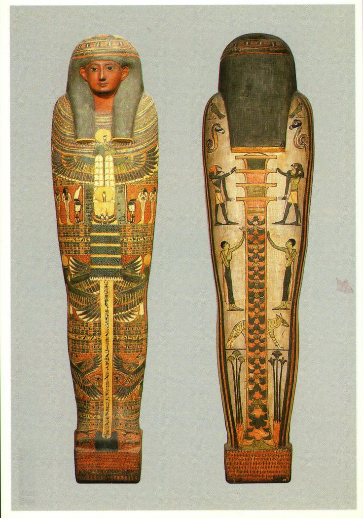 Two main temples to Osiris were located at Busiris in the Delta and Abydos in Upper Egypt. Abydos had become a pilgrimage site that drew Egyptians from all over the country. According to legend, an angry Seth dismembered Osiris's body, and the temple of Abydos kept the god's head as a relic. His reliquary was put atop a pole, which was then placed in a support decorated with seated lions. The relic as not visible and remained hidden from human eyes. The coffin was entirely painted. Louvre