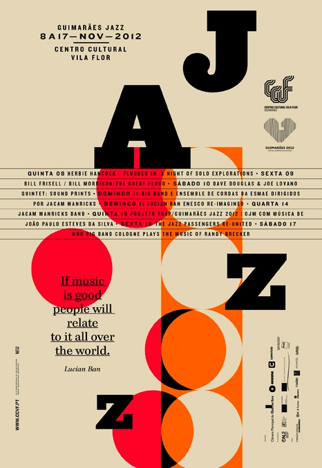 jazz poster Like the fun and playful composition Colours work well as well | Graphic design posters, Poster design inspiration, Graphic design typography