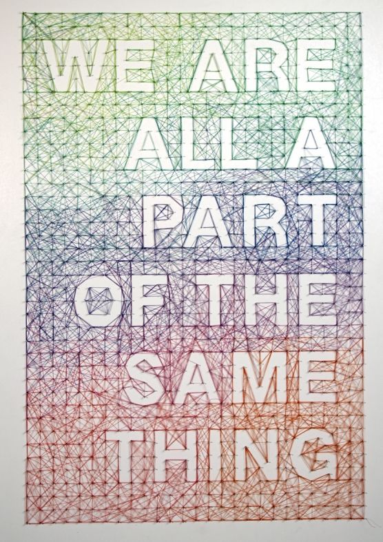 brilliant tactile typographic poster (made of thread) by Dominique Falla