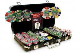 Mallette Casino Joker 300 jetons - Pokeo.fr - Mallette poker de 300 jetons Casino Joker, en clay 9,5g + 2 jeux de cartes 100% plastique + 1 livret de règles du jeu édité par Pokeo.