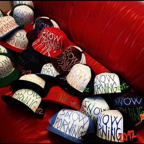 Special edition of Life is Porno caps for sale at each tour stop of Snowporning movie premiere!