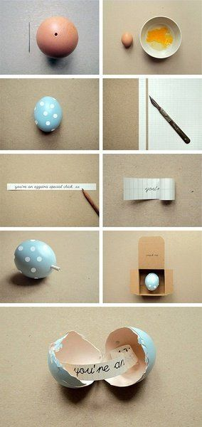 Put notes inside empty egg shells for special Easter messages.