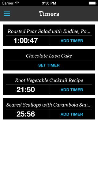 Multiple timers from running recipes