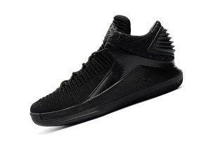 f3cdee25445 Mens Air Jordan 32 Low Triple Black AA1256 101 Boy Basketball Shoes ...