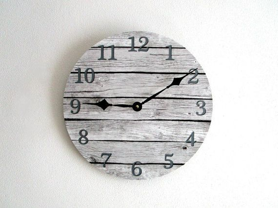 Rustic Wall Clock  Vinyl LP Record with Gray by GoldenDaysDesigns, $35.00