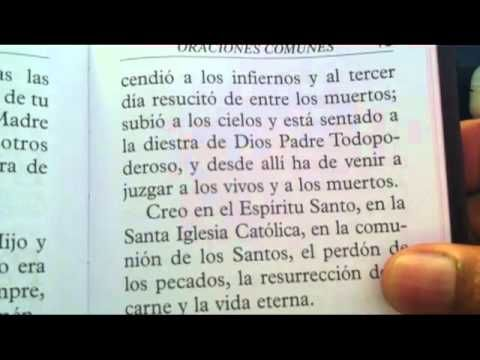 El Credo (The Apostles Creed in Spanish) - YouTube