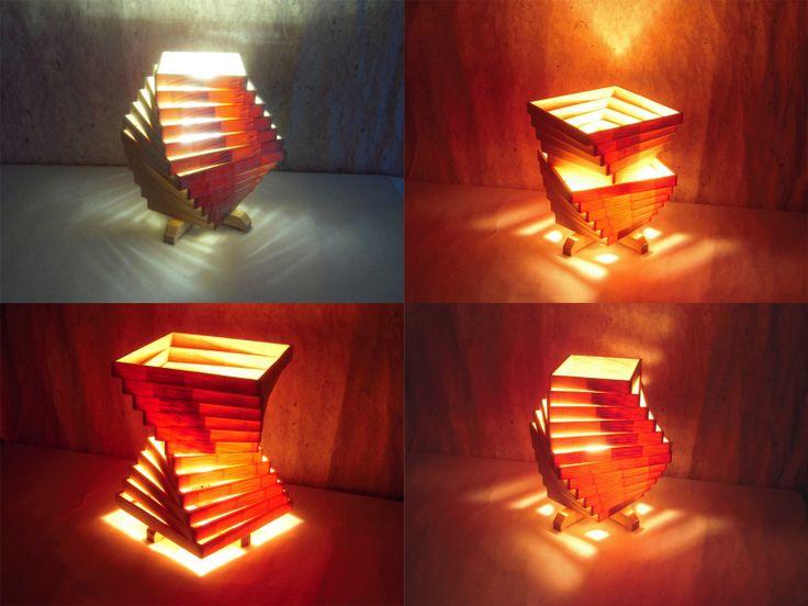 Wooden Lamp Shade Scroll Saw【2019】 照明のアイデア、木製ランプ、和モダン 照明