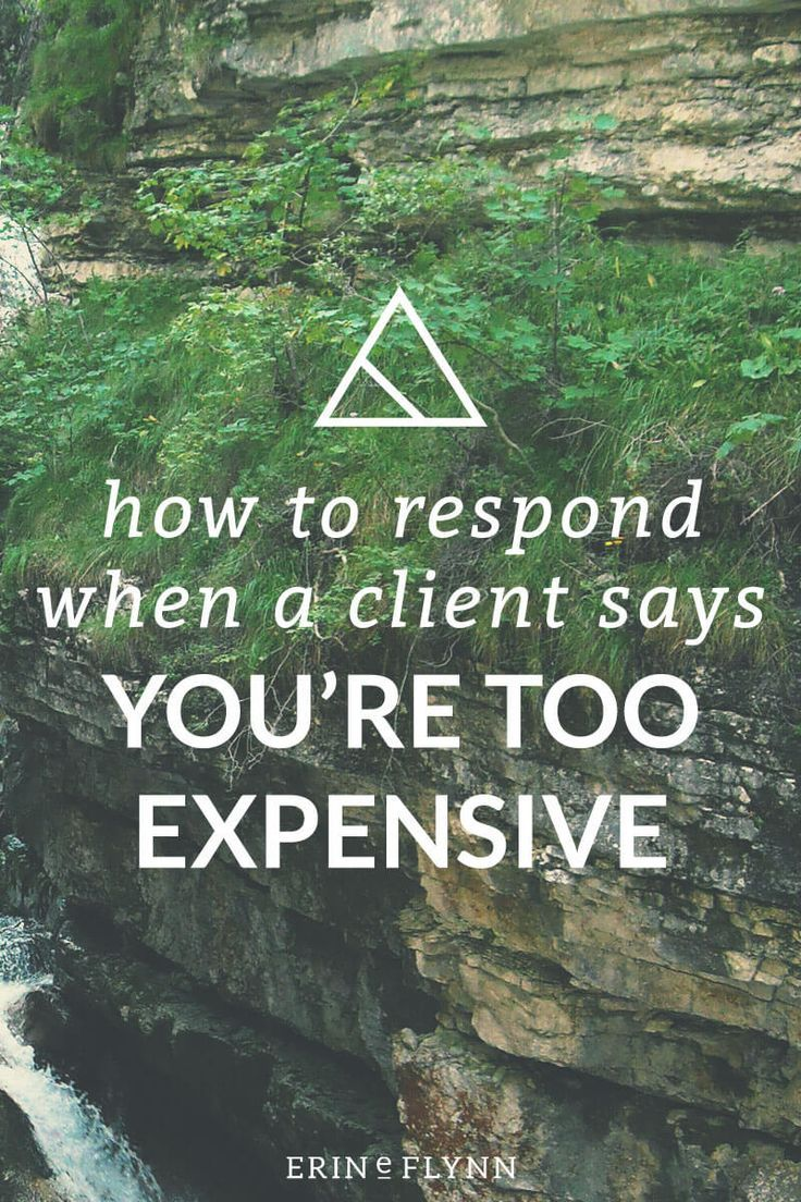 "If you've been in the design business for a while, you've likely heard this from potential clients before, ""you're too expensive!"" or something to that effect, anyhow.  So what do you do?  Click through to read the post and learn how to respond when a client says you're too expensive!"