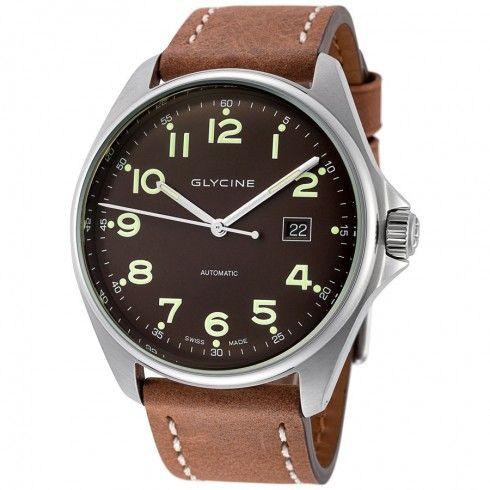 Glycine Combat 6 Automatic Dark Brown Dial Men's Watch 3890.17AT.LB7BH-WL