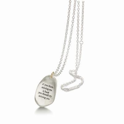 Bjorg necklace. The cutest message!