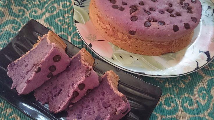 Rumah Makan DJOWO KLATEN: PURPLE SWEET POTATO WITH CHOCOLATE CHIPS CAKE (Bol...
