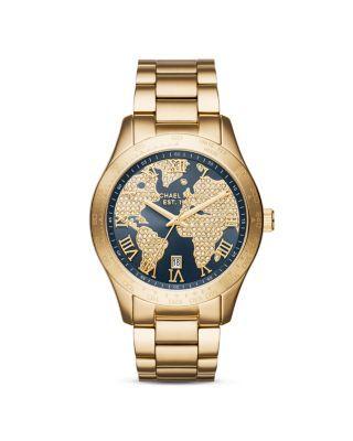 Michael Kors Layton Atlas Dial Watch, 43.5mm | Bloomingdale's
