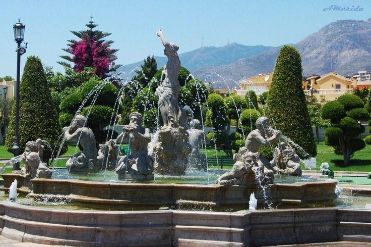 Fuente del Parque de la Batería, Torremolinos-Málaga (Spain).