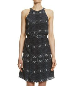 Diamond Print Dress, MULTI