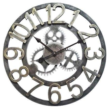 Infinity Instruments Gear Clock - Gray/Gold : Target