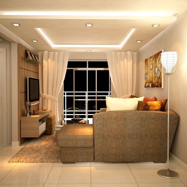 sala bonito rack iluminação direcionada