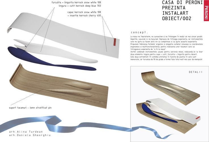 Competition entry - event cutlery arch.Alina Turdean & arch.Daniela Gheorghiu for Instalart002 | by Peroni