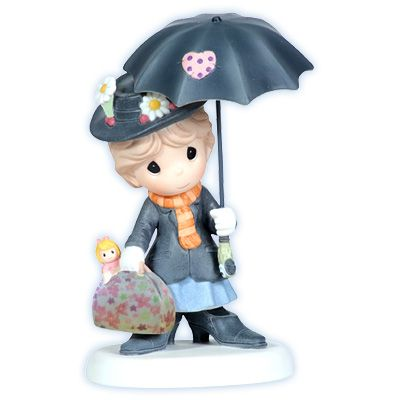 Precious Moments - Mary Poppins. @deanna hughes Robertson I'm totally buying this for you!