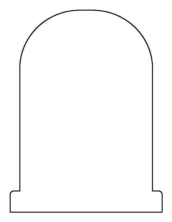 Tombstone pattern. Use the printable outline for crafts ...