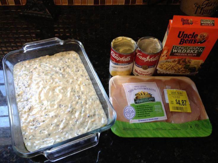 """No Peek Chicken...throw it together...stick it in the oven...set the timer...relax! EASY weeknight meal! My kids loved it...even the """"big"""" one. #chicken #dinner"""