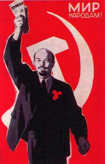 Peace to people Lenin