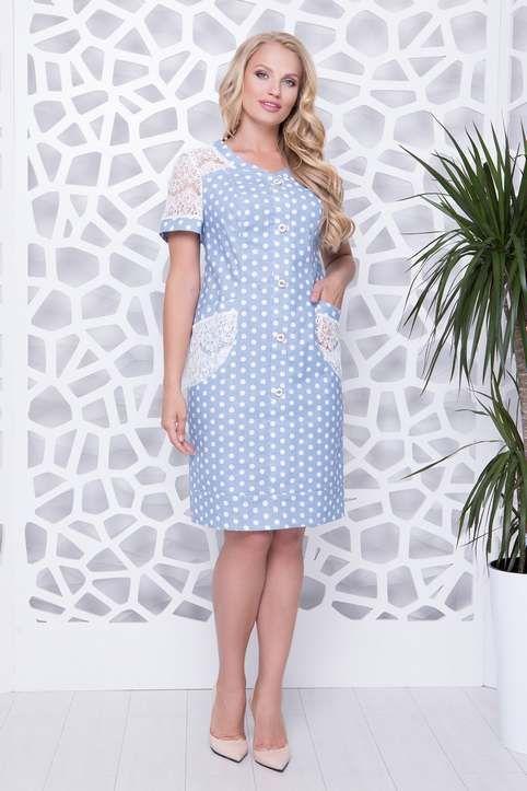 Нарядные и повседневные платья для полных девушек и женщин украинского  бренда All Posa лето 2018  4566b4c84cb18
