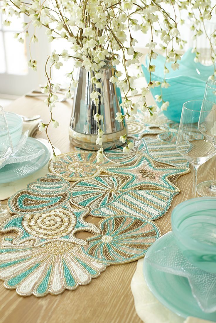 Pier1 Dining Table: Runners, Angel And Tables