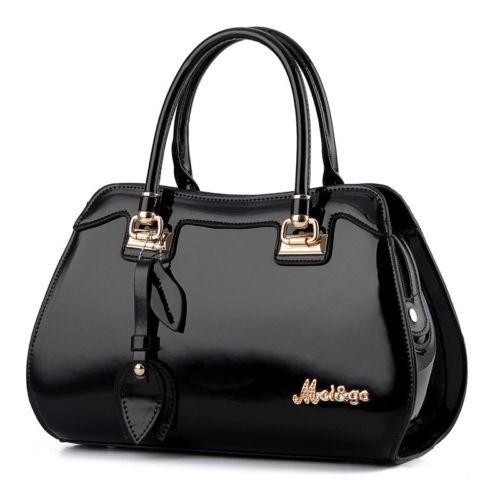 HOT-SALE-Women-Patent-Leather-Shoulder-Messenger-Handbag-Tote-Bag-Purse