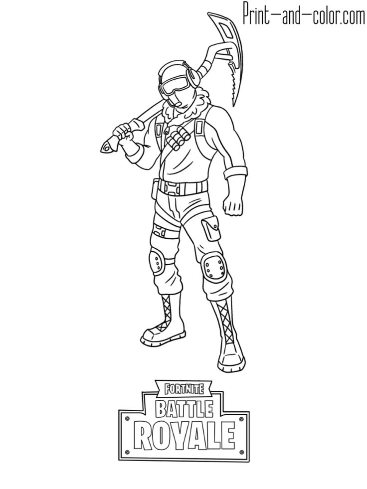 fortnite battle royale coloring page frostbite skin