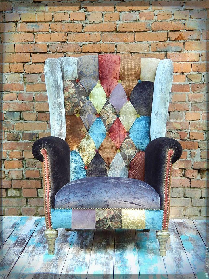 Купить кресло № 68 в наличии - винтажный стиль, кресло с ушами, английский стиль, интерьер