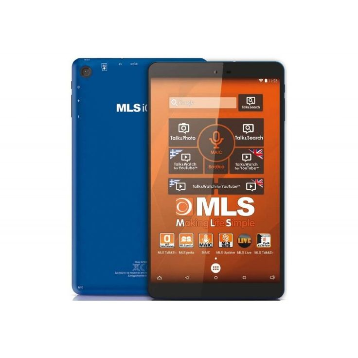 """Tablet 8"""" 8GB MLS iQTab Marine Μπλε"""