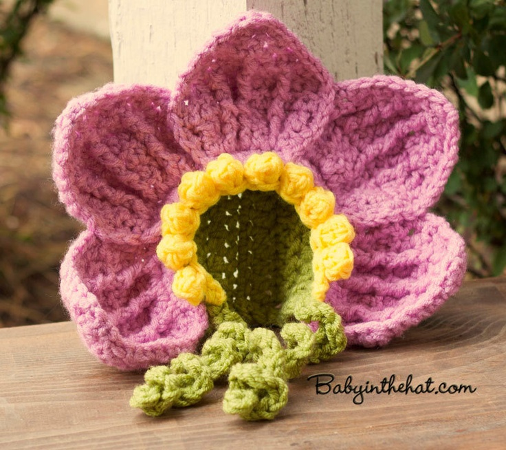 Sunflower Crochet Baby Hat Pattern : 113 Best images about Crochet photo ops for newborns on ...