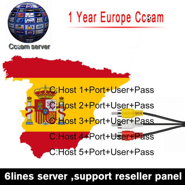Fast and Stable 1 Year CCcams Europe Cline Card Mgcam Oscam Cline