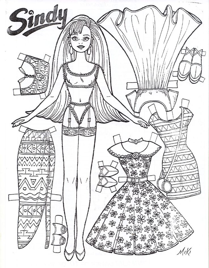 SINDY A PAPER DOLL BY MIKI