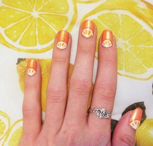 71 best citrus images on pinterest make up looks orange sip of summer nails prinsesfo Gallery