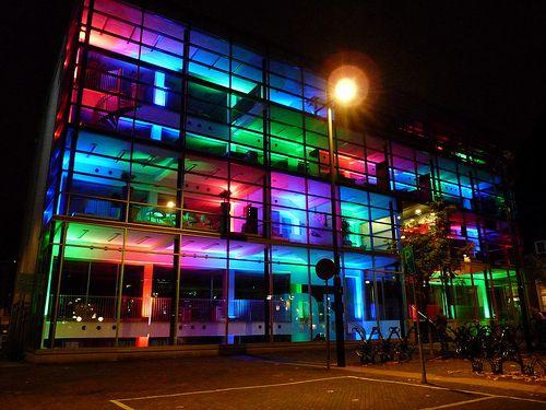 kleur in de architectuur, glow, city of light , eindhoven