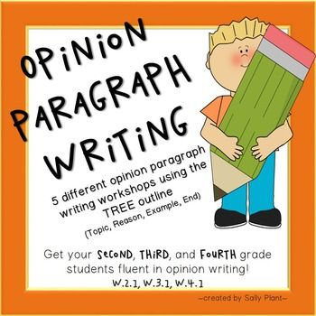 Ever since I discovered the TREE outline for teaching opinion writing, my skills as a writing teacher have improved! I love this outline and hope you'll love it, too. If you'd like to sample this method before purchasing anything, check out my Seasons Opinion Paragraph Freebie!This lesson includes:~5 paragraph writing prompts to show your students~a TREE graphic organizer for each paragraph~rough draft paper for each paragraph~final draft paper for each paragraph~an example of a completed…