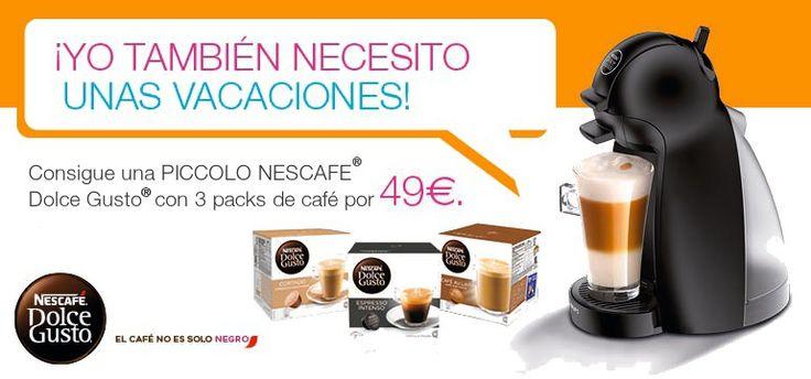 ¡Promoción! Cafetera Krups Dolce Gusto Piccolo + 3 packs de cápuslas por menos de 50 euros en Amazon España
