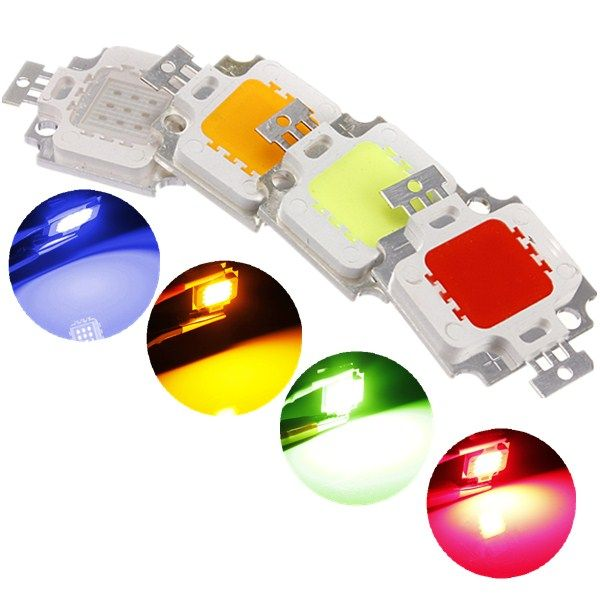 Lustreon Multicolor 10w High Power Led Chip Ceiling Down Flood Light Lamp Accessories Dc9 12v Lighting Accessories From Lights Lighting On Banggood Com Led Diy Power Led Flood Lights