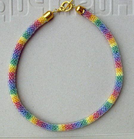 Bead crochet rope, via Flickr.