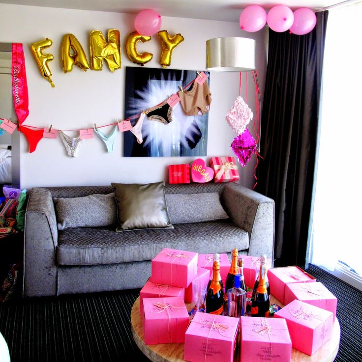 For the Love of Character: Let's Get Fancy: Megan's Bachelorette Weekend! Ideas for decorating a hotel room for a bachelorette party